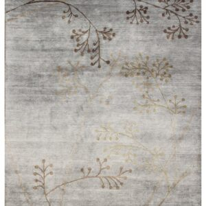 Area rug grey colors and simple twig design