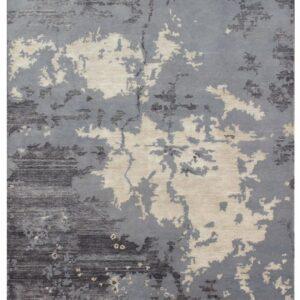 Area rug with modern design grey color tones