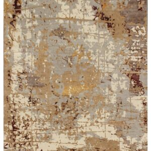 Modern area rug with beige grey hues