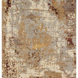 Modern area rug with beige grey hues