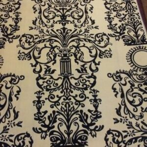 Area rug with beige colors and classical patterns