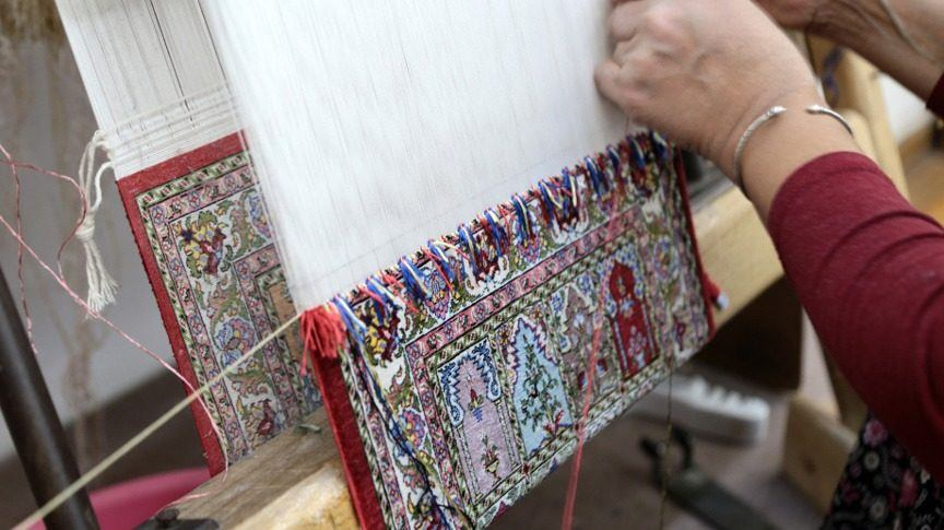 Traditional rug weaving